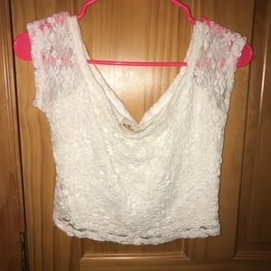 White Lace Hollister Crop Top